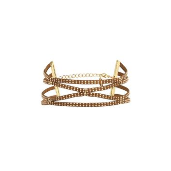 Modern Amusement Choker in Brown and Gold