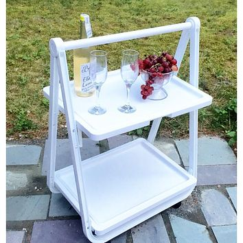Foldable Rolling Trolley Tray
