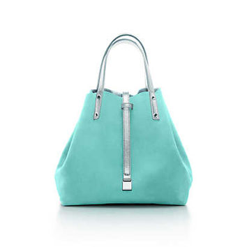 Tiffany & Co. - Reversible tote in suede and metallic leather, small. More colors available.