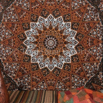 Queen Psychedelic Tapestry Tapestries, Indian Wall Tapestry, Celestial Hippie Tapestries, Picnic Blanket, Boho Bedspread, Mandala Tapestry