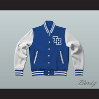 Nathan Scott One Tree Hill Ravens Blue Varsity Letterman Jacket-Style Sweatshirt
