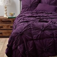 Rosette Quilt, Purple - Anthropologie.com