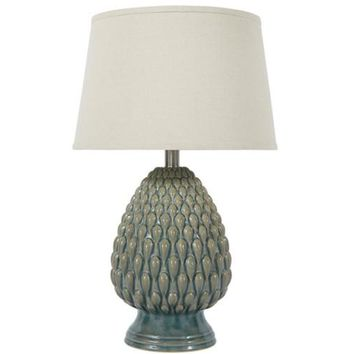 L100264 Saidee Ceramic Table Lamp (1/CN) - Teal - Free Shipping!