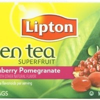 Lipton Green Tea, Cranberry Pomegranate, Tea Bags 20 Count Box
