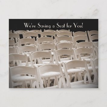 Save the Date 95th Birthday Party Postcard Chairs