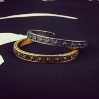 """Shang Liu Shi Hui"" Fashion Retro Five-pointed Star Unisex Open Bracelet Personality Couple Bracelet Jewelry"