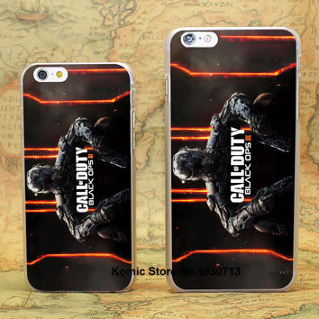 call of duty black ops black ops Design hard transparent clear Skin Cover Case for iPhone 6 6s 6 Plus