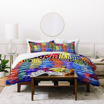 Renie Britenbucher Dancing City Duvet Cover