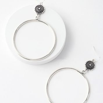 Avana Silver Hoop Earrings