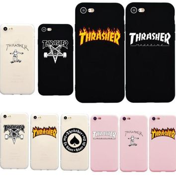 Thrasher Magazine Iphone X 5 6 7 8 Iphone Case Thrasher Phone Case Flame