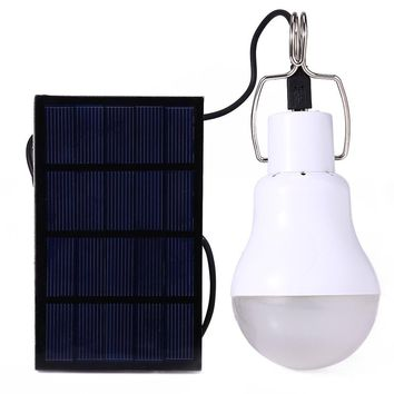 Outdoor Camping Portable LED Bulb Light Charged Solar Energy
