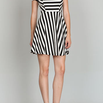 Stripe Short-Sleeve Dress