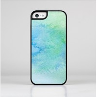 The Subtle Green & Blue Watercolor Skin-Sert for the Apple iPhone 5c Skin-Sert Case