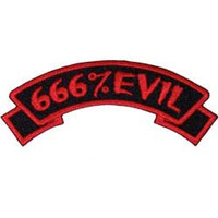 Creepy Zombie Dead Horror Gothic Embroidered Iron on Patch - 666 % Evil KV02
