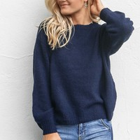 AMUSE SOCIETY Rooftop View Dark Navy Sweater