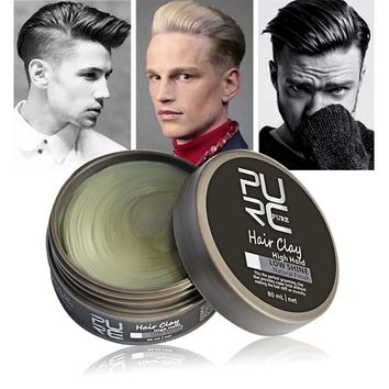 2017 New Original Clay Hair Coloring Hair wax styling Hair High Hold Low Shine clay hair For Men style