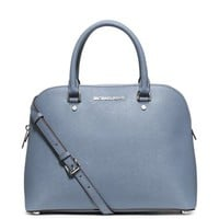 Cindy Large Saffiano Leather Satchel | Michael Kors