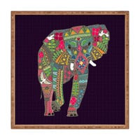 Sharon Turner Painted Elephant Square Tray