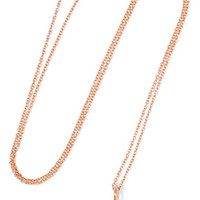 Ileana Makri - Kitten Eye 18-karat rose gold diamond necklace