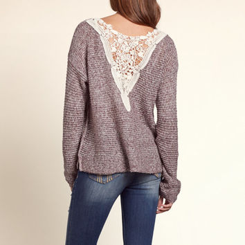 Seal Beach Lace Back Sweater