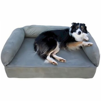 Snoozer Pet Dog Cat Puppy Indoor Comfortable Soft Quilted Luxury Regular Foam Sofa Sleeping Bed Large Camel