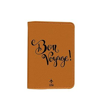 Bon Voyage [Name Customized] Leather Passport Holder - Leather Passport Cover - Travel Accessory- Travel Wallet for Women and Men_SCORPIOshop