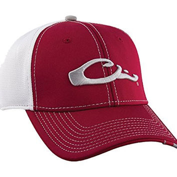 Drake Waterfowl Game Day Fitted Hat Alabama Red & White XL/2XL