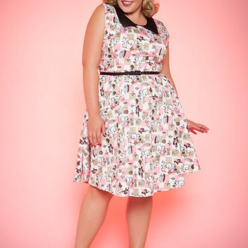 Pinup Couture Plus Size Junebugs Dress in Squirrel Print