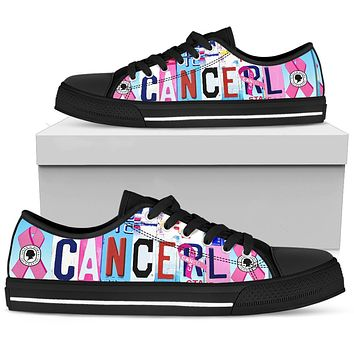 Cancel Cancer Low Top Shoes