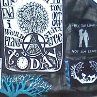 On Sale--Punked Out Leather Vest with Hand Sewn/Painted Anarchistic/Punk/Biker Patches Size 2x