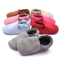 Baby Shoes Nubuck Baby Moccasins Newborn Shoes Soft Infants Crib Shoes Sneakers First