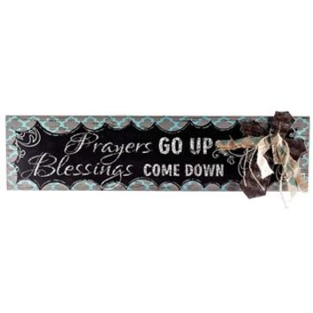 Prayers Go Up Blessings Come Down Sign with Cross | Shop Hobby Lobby