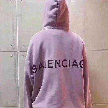 ONETOW balenciaga long sleeve hedging pullover sweater hoodies 6 color purple i cn cfp