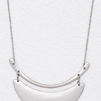 Crescent Pendants Longline Necklace
