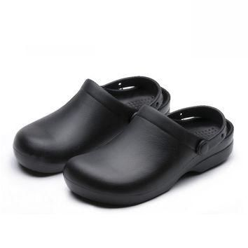 2017 Wako shoes chef cook work shoes non-slip shoes man shoes sandals kitchen cookhous