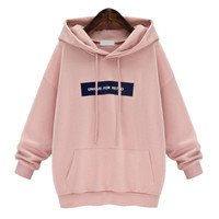 Winter Casual Cotton Love Pink Sweatshirt Kpop Cute Women Hoodie Long Fleece Plus Size M-3XL Sailor Moon Totoro Bts Hoodies