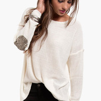 Glam Patch Sweater $54
