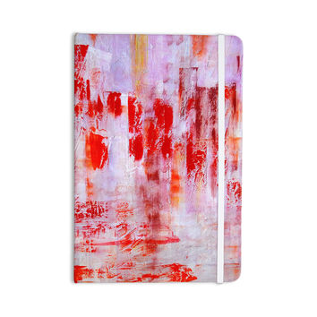 "Malia Shields ""Painted Cityscape"" Pink Red Everything Notebook"