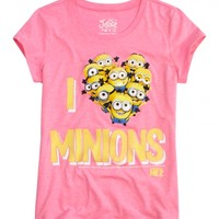 I Heart Minions Graphic Tee | Girls {category} {parent_category} | Shop Justice