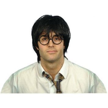 Adult Harry Potter Glasses and Wig Mens Halloween Costume Accessory Fancy Dress