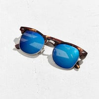 Classic Half-Frame Mirrored Sunglasses - Urban Outfitters