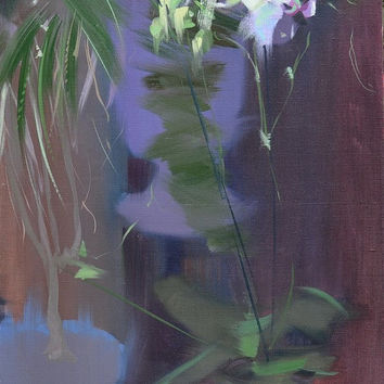 Dark Floral Painting - Oil Painting Orchids - Night Canvas Art Bedroom Art by Yuri Pysar