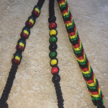 Rasta hippy Jamaican cord anklets