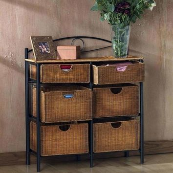 Iron/Wicker Storage Chest
