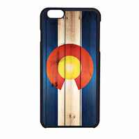 Colorado State Flag Wood Design iPhone 6 Case
