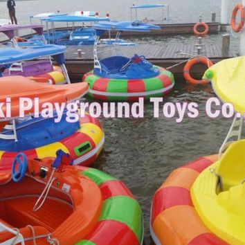Lovely Swam kids electric boat Inflatable Water Bumper Boat for Kids