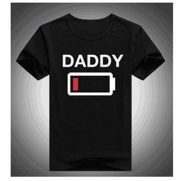 Family Matching T-shirts Battery Son Daughter Mommy Daddy