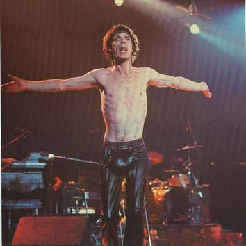 Rolling Stones Mick Jagger 1981 Poster 24x33
