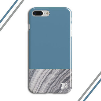 Niagara Blue x Grey Marble Two Toned Phone Case, iPhone 7, iPhone 7 Plus, Tough iPhone Case, Galaxy S7, Samsung Galaxy Case, CASE ESCAPE