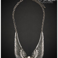 Aeropostale Pretty Little Liars Aria Wing Short-Strand Necklace - Silver, One